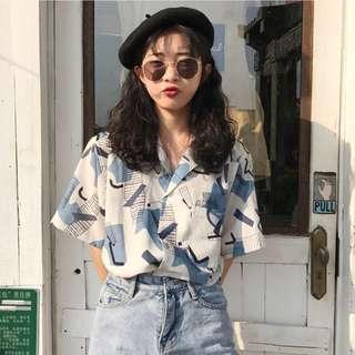 🚚 (P.O) Korean Retro Blouse Top