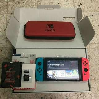 Nintendo Switch + SX Pro with 128gb of games!
