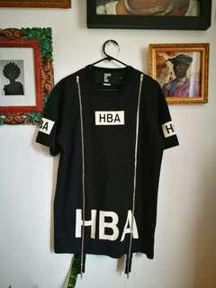 Genuine HBA Hood By Air Zip detail tee Grunge Streetwear