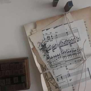 vintage journal paper !!
