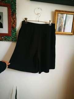SABA BNWT Black Culotte Work Shorts