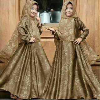 Kid hijab maxi embos fosi