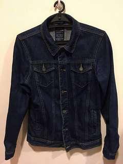 PULL&BEAR 高磅數 深藍牛仔襯衫外套