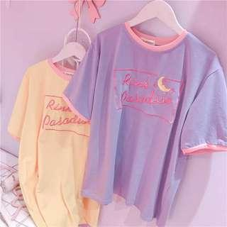"""[PO] Uzzlang """"pink paradise"""" embroidered top"""