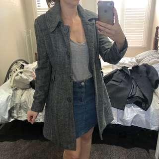 Grey Winter Coat Sz 8