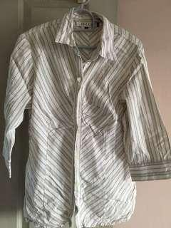 Striped work shirt M
