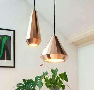 Nordic Modern Designer Rose Gold Glass Pendant Lamp