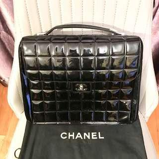 Chanel Black Patent Leather Choco Bag / Business Bag