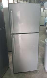 Used Samsung 2 doors fridge refrigerator peti sejuk peti ais 337 litres in good condition