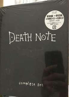 Death Note 3 dvd + 1 cd 死亡筆記 complete set