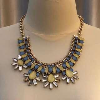 Yellow Blue Necklace