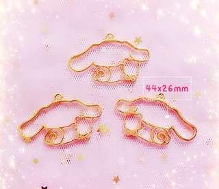 Brand new Resin Bezel Craft Supply - Gold Plated Cinnamonroll Inspired bezel FOR UV RESIN / Resin