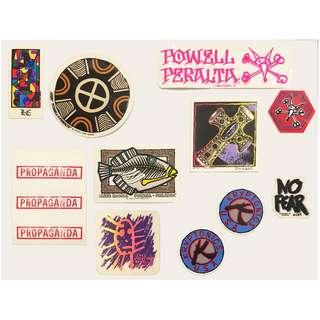 Vintage Retro Skateboard and Inline Skate Stickers (Powell Peralta/Kryptonics/Black Hole/Rollerblade)
