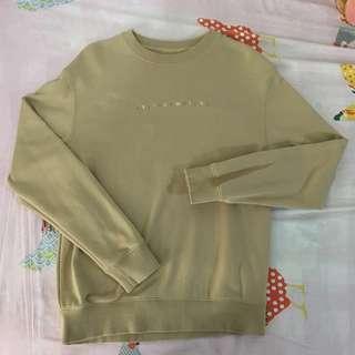 SPAO EXO XIUMIN 衛衣 米色 泥黃色 Beige