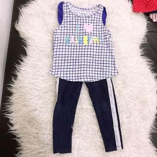 Singlet leggings set mothercare cottonon gap