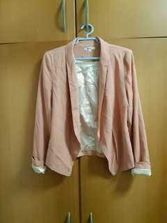 Blazer cardigan in peach from valleygirl