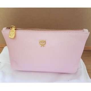 Authentic MCM Leather Make Up Pouch Pink