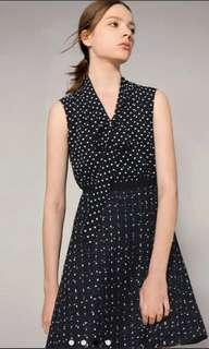 Saturday Club Polka Dot Dress S