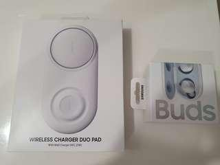 Samsung Galaxy Buds, Wireless Charger Duo Pad