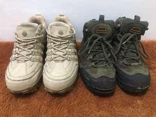 200k dapat 2 sepatu gunung columbia 5.11 size 42