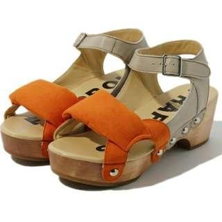 Frapbois Wedge Sandals 橙色涼鞋