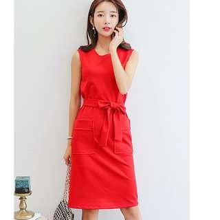 🚚 Free mailing Red Office dress