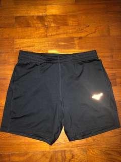 [NEW] Mizuno Black Short Tights Sports With Zipper Pocket