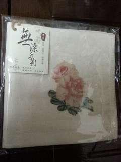花卉無染方巾(可換物)