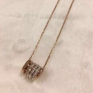 Sale❣️玫瑰金'閃石'頸鍊 golden rose necklace