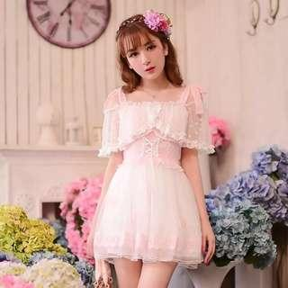 Candy Rain Pink Chiffon Dress