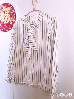 🔥氣質蝴蝶結直間上衣襯衫