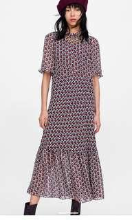 Zara絲綢洋裝 (含運)