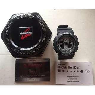 Casio Watches G-SHOCK Multifunctional Quartz Mens Watch GA-100BW-1A