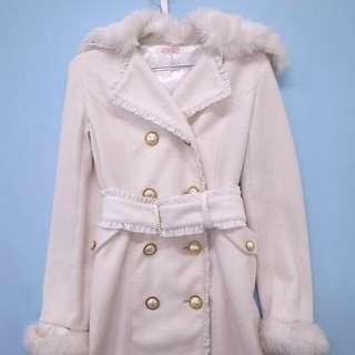 Tralala (Liz Lisa sister brand) Cream Fur Coat