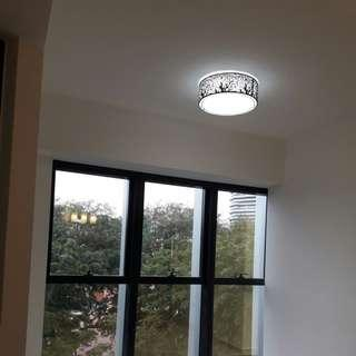 Modern Ceiling Light with 3 color LED