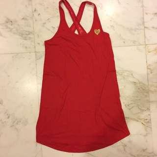 Victoria's Secret Red Sleep shirt