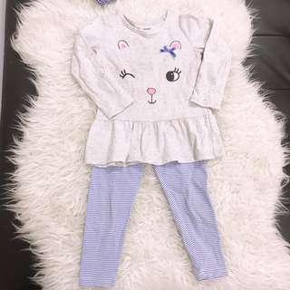 Peplum set leggings set carters pyjamas