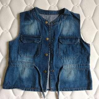 Denim jacket top