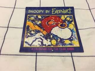 Snoopy by EVERHART 2000 calendar (絶版)