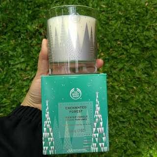 The body shop enchanted forest acented candle