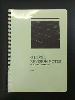 MSHS O Level A Math & E Math Revision notes