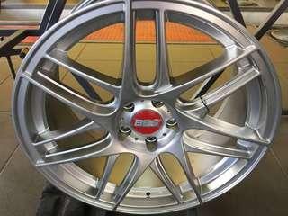 19 Bbs silver cxr 8.5jj new set offer offer 1set only