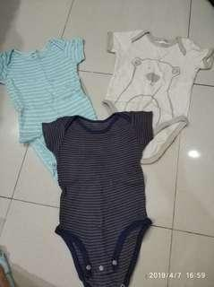 3 pcs Jumper baby jumpsuit bayi