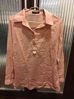 🚚 粉色純棉襯衫
