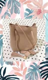 Tas Bucket Bag Pink Salem