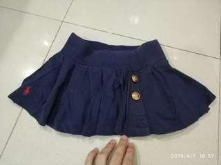 Mini Skirt rok mini anak perempuan ralph lauren asli