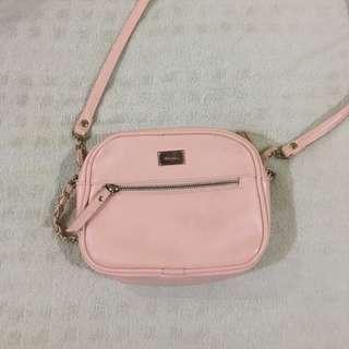 bershka sling bag pink
