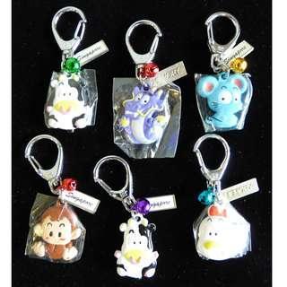 BN Chinese Zodiac Key Chain Key Ring Bag Ring