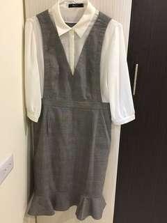 🚚 G2000 吊帶魚尾襯衫連身洋裝