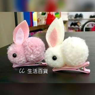 女童白兔髮夾